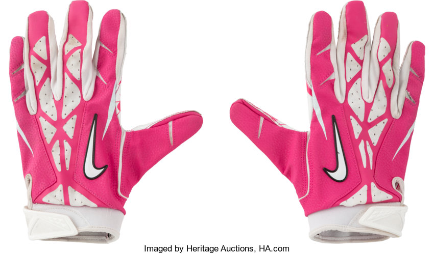 4d79a80413a4 2012 Larry Fitzgerald Game Worn Arizona Cardinals Receiver Gloves ...