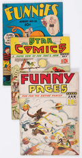 Golden Age (1938-1955):Miscellaneous, Comic Books - Assorted Golden Age Comics Group (Various Publishers, 1930s) Condition: Average GD.... (Total: 4 Comic Books)