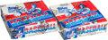 Baseball Cards:Unopened Packs/Display Boxes, 1981 Topps Baseball Cello Box Pair (2) - Each With 24 UnopenedPacks. ...