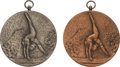 Miscellaneous Collectibles:General, 1970 Olga Korbut Medals Silver & Bronze. ...