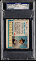 Autographs:Sports Cards, Signed 1962 Post Cereal Mickey Mantle 5 PSA/DNA Authentic....