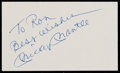 Autographs:Index Cards, Mickey Mantle Signed Index Card....