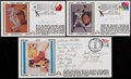 Autographs:Others, First Day Covers Lot of 3 - Steve Carlton, Phil Rizzuto and NegroLeague Greats....