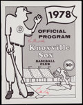 Autographs:Others, 1978 Bill Veeck & Ray Murillo Signed Knoxville Sox Program....