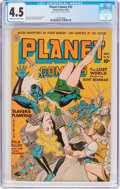 Golden Age (1938-1955):Science Fiction, Planet Comics #32 (Fiction House, 1944) CGC VG+ 4.5 Cream tooff-white pages....