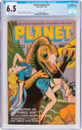 Golden Age (1938-1955):Science Fiction, Planet Comics #37 (Fiction House, 1945) CGC FN+ 6.5 Off-whitepages....