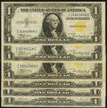 Small Size:World War II Emergency Notes, Fr. 2306 $1 1935A North Africa Silver Certificate. Fine-Very Fine or better. Six Examples.. ... (Total: 6 notes)