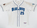Baseball Collectibles:Uniforms, 2001 Carlos Delgado Game Worn Jersey & Pants with 3 Patches!...