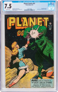 Golden Age (1938-1955):Science Fiction, Planet Comics #47 (Fiction House, 1947) CGC VF- 7.5 Off-whitepages....