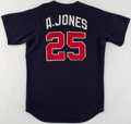 Baseball Collectibles:Uniforms, 1998 Andruw Jones Batting Practice Worn & Signed Jersey....