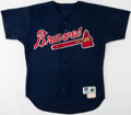 Baseball Collectibles:Uniforms, 1997 Chipper Jones Game Worn Atlanta Braves Jersey....
