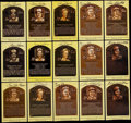Autographs:Post Cards, Baseball Greats Hall of Fame Plaque Postcards Lot of 80. ...