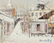 Maurice Utrillo (French, 1883-1955) Maquis sous la neige, Montmartre, circa 1938 Gouache on card 10 x 12-5/8 inches (...