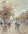 Paintings, Antoine Blanchard (French, 1910-1988). Arc de Triomphe. Oil on canvas. 18 x 15 inches (45.7 x 38.1 cm). Signed lower rig... (Total: 2 Items)