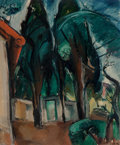 Fine Art - Painting, European:Modern  (1900 1949)  , Achille Emile Othon Friesz (French, 1879-1949). Paysage. Oil on canvas. 18 x 15 inches (45.7 x 38.1 cm). Signed lower ri... (Total: 2 Items)