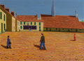 Fine Art - Painting, European:Modern  (1900 1949)  , Camille Bombois (French, 1883-1970). La place, circa 1922-23. Oil on canvas. 23-3/4 x 32 inches (60.3 x 81.3 cm). Signed... (Total: 2 Items)