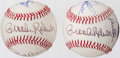 Autographs:Baseballs, Baltimore Orioles Greats Multi-Signed Baseballs Lot of 2 - IncludesBrooks Robinson, Paul Blair, and Boog Powell. ...