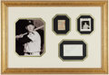 Baseball Collectibles:Photos, Early 1950's Mickey Mantle Signed Index Card Display....