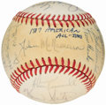 Autographs:Baseballs, 1987 American League All Star Team Signed Baseball (24 Signatures)....