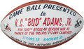 Football Collectibles:Balls, 2001 Tennessee Titans/Houston Oilers Painted Game Football Presented to Bud Adams - 300th Regular Season Win as Owner. ...