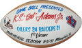 Football Collectibles:Balls, 1997 Tennessee Oilers Painted Game Football Presented to Bud Adams - 1st Franchise Win....