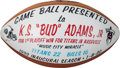 Football Collectibles:Balls, 2000 Tennessee Titans Painted Game Football Presented to Bud Adams - Music City Miracle!...