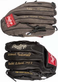 Baseball Collectibles:Others, Frank Robinson and Eddie Murray Signed Gloves (Lot of 2)....