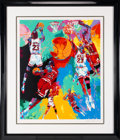 "Basketball Collectibles:Others, 1990's ""Michael Jordan"" Signed Artist's Proof Serigraph by LeRoyNeiman...."