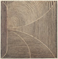 Fine Art - Work on Paper:Print, Margo Hoff (1910-2008). Shore and Tunnel, (twoworks), 1976. Intaglio with hand coloring, e...