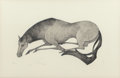 Fine Art - Work on Paper:Print, Fred Re'em (20th century). Horse Resting, n.d.. Etching incolors on paper. 13 x 20 inches (33.0 x 5...