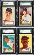Baseball Cards:Lots, 1952 Topps Baseball SGC 86 NM+ 7.5 High Number Collection (4). ...