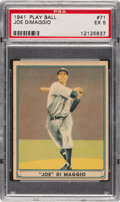 Baseball Cards:Singles (1940-1949), 1941 Play Ball Joe DiMaggio #71 PSA EX 5....