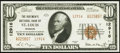 National Bank Notes:Missouri, Saint Louis, MO - $10 1929 Ty. 2 The Boatmen's NB Ch. # 12916. ...