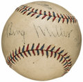 Autographs:Baseballs, Bing Miller, Mountain Landis, & Jimmy Dykes Multi Signed Mini Baseball. ...