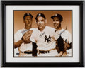 Baseball Collectibles:Photos, Whitey Ford, Yogi Berra and Phil Rizzuto Multi Signed OversizedPhotograph....