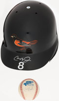 Baseball Collectibles:Hats, Cal Ripken Jr. Signed Baltimore Orioles Authentic Helmet and Signed Baseball....