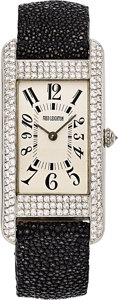 Estate Jewelry:Watches, Fred Leighton Lady's Diamond, White Gold Watch. ...