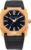Estate Jewelry:Watches, Bvlgari Gentleman's Rose Gold Octo Watch. ...