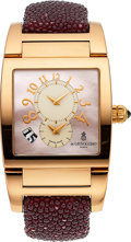 Estate Jewelry:Watches, De Grisogono Lady's Colored Diamond, Mother-Of-Pearl, Rose GoldInstrumento Uno Watch. ...