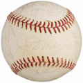 "Autographs:Baseballs, 1970's New York Yankees Multi-Signed ""Old Timers Day"" Baseball (19Signatures)...."
