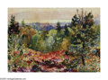 American:Impressionism, HAYLEY LEVER (American 1876-1958). Fall Colors - The Hudson.Watercolor on paper. 10in.x 14in. Signed lower center. Insc...