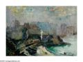 American:Impressionism, HAYLEY LEVER (American 1876-1958). St. Ives, Cornwall,England, 1910. Watercolor on paper. 10.75in. x 14.25in.. Signeda...