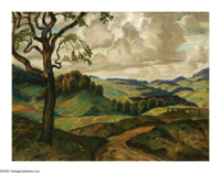 JOHN STEUART CURRY (American 1897-1946) Wisconsin Landscape Oil on canvas 18.5in. x 24.5in. Signed lower right Prov