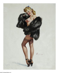 GIL ELVGREN (American 1914-1980) This Is the Skin I Love to Touch, 1947 Oil on canvas 30in. x 24in. Signed lower