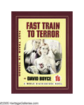 Illustration:Books, ENGLISH ILLUSTRATOR (20th Century) . Fast Train to Terror .Mixed-media . 21.5in. x 16in. . Not signed . Original paperb...