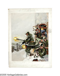 BASIL GOGOS (American 20th century) 101st Airborne Division Stand at Bastogne, 1963 Acrylic on board 30in. x 22in