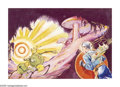 Illustration:Science Fiction, H.R. HAMMOND (American 20th century . The Earth's Core, 1940. Gouache on paper . 13.5in. x 20in. . Not signed . This pa...(Total: 2 Items)