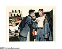 LARRY KRITCHER (American b.1900) The Gallant Cadet, 1958 Gouache on board 21in. x 28in. Signed lower left: Kritc
