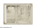 Illustration:Books, ALAN LEE (English b.1947) . Untitled, 1984 . Mixed-media onpaper . Signed lower right . 16.5in. x 21in.. Castles, M...
