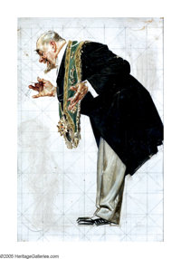 JOSEPH CHRISTIAN LEYENDECKER (American 1874-1951) Diplomat Bowing Oil on canvas 18in. x 12in. Not signed  Brian